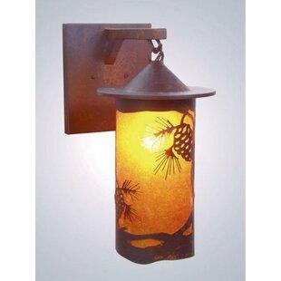 Steel Partners Pinecone 1-Light Outdoor Wall Lantern