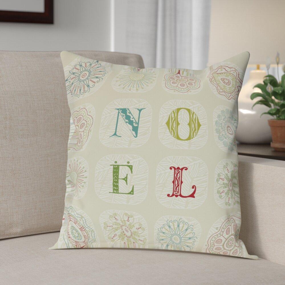 The Holiday Aisle Talhah Boho Noel Throw Pillow Reviews Wayfair