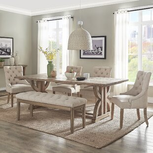Adrik Salvaged Reclaimed Pine Wood 6 Piece Dining Set (Set of 6) Birch Lane™ Heritage