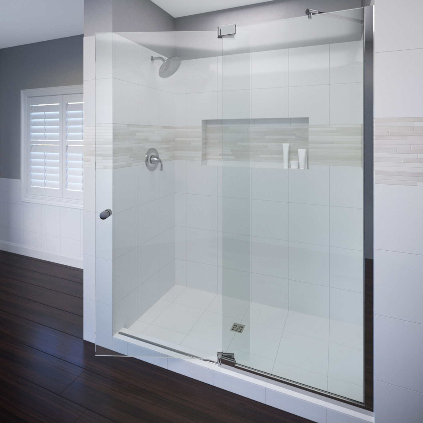 Cantour 48 X 76 Pivot Door And Panel Shower Door