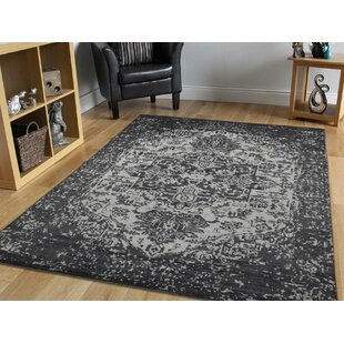 Shop For One-of-a-Kind Beare Design Hand-Knotted 6'2 x 8'10 Wool/Silk Black/White Area Rug By Isabelline