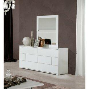 Online Reviews Deutsch Wooden 6 Drawer Double Dresser by Orren Ellis