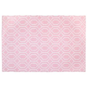 Plush Pink/White Area Rug