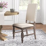 Horton Upholstered Side Chair in Antiqued Gray Oak (Set of 2) by Kelly Clarkson Home