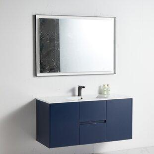 Caihe 47 WallMounted Single Bathroom Vanity Set with Mirror by Latitude Run