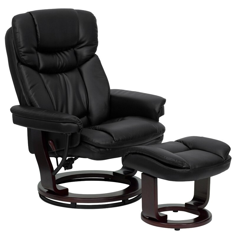 Winnols Manual Swivel Recliner with Ottoman  sc 1 st  Wayfair & Latitude Run Winnols Manual Swivel Recliner with Ottoman u0026 Reviews ... islam-shia.org