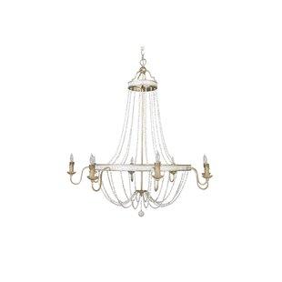 White shell chandelier wayfair corinna 8 light empire chandelier aloadofball Images