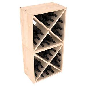Karnes Pine X-Cube 48 Bottle Floor Wine Rack by Red Barrel Studio