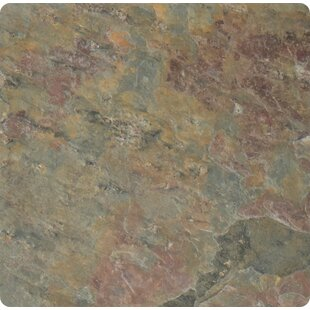 Classic 4'' x 4'' Slate Field Tile in Multi