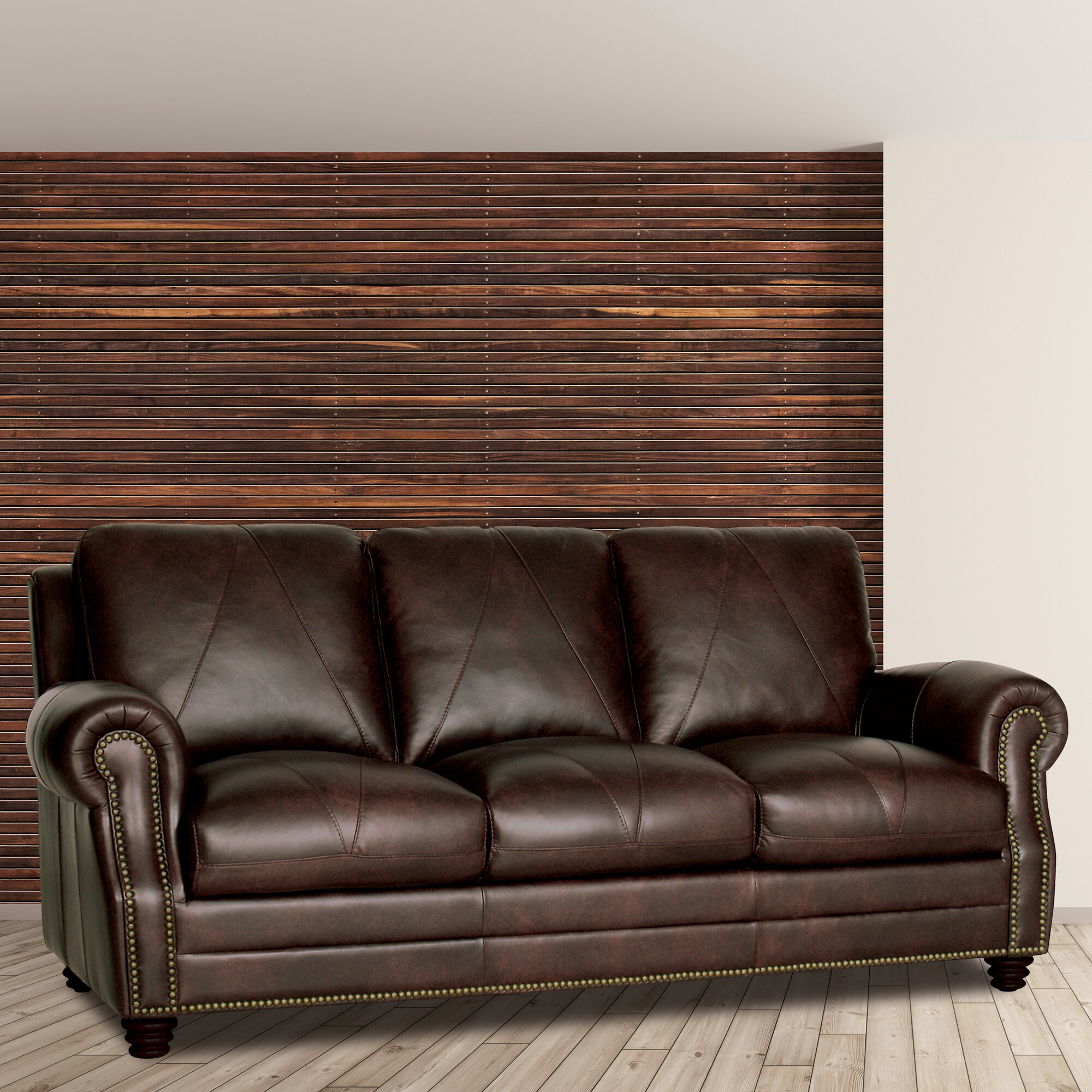 Light Brown Faux Leather Sofa | Wayfair