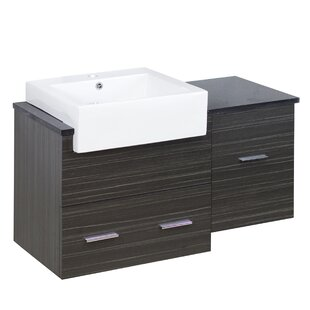 Xena Farmhouse Wall Mount Plywood-Melamine 37 Single Bathroom Vanity Base by American Imaginations