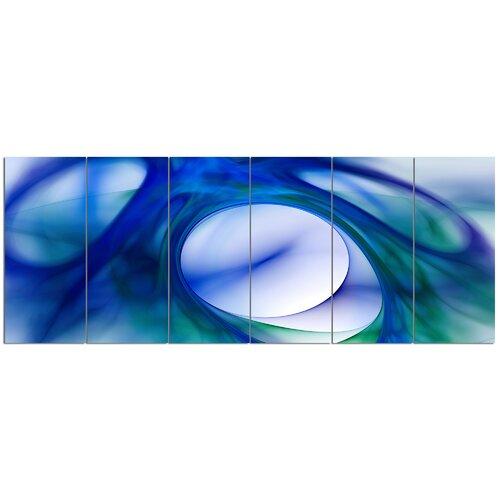 Mystic Blue Fractal Wallpaper 6 Piece Graphic Art Print Set On Canvas