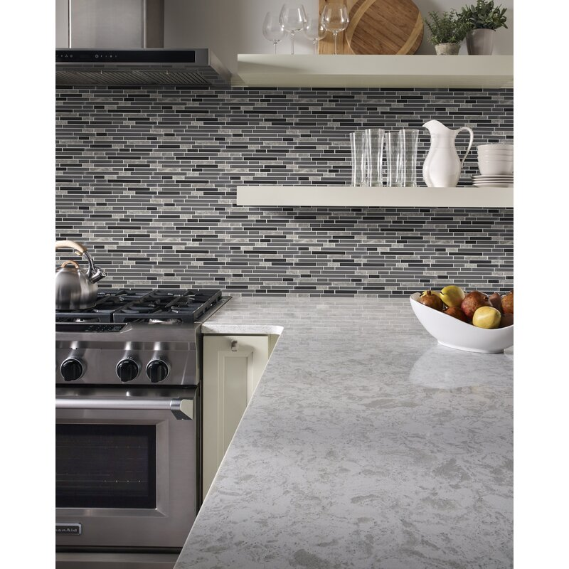 X 4 Mm Glass Stone And Metal Mesh Mounted Mosaic Tile X 12 In Urban Loft Interlocking 12 In Tools Home Improvement Tiles
