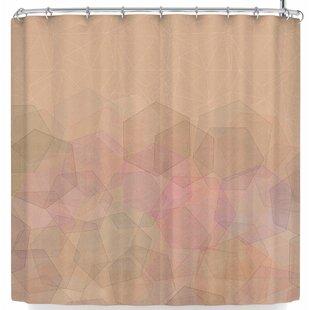 East Urban Home Pia Schneider Hazelnut & Hexagonal Shower Curtain