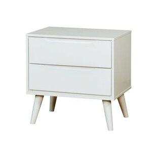 Ian Mid-Century 2 Drawer Nightstand