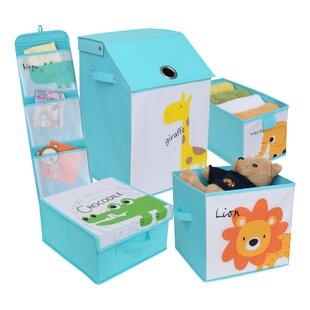Best Choices Kids Safari Fabric 5 Piece Underbed Storage Set ByZoomie Kids