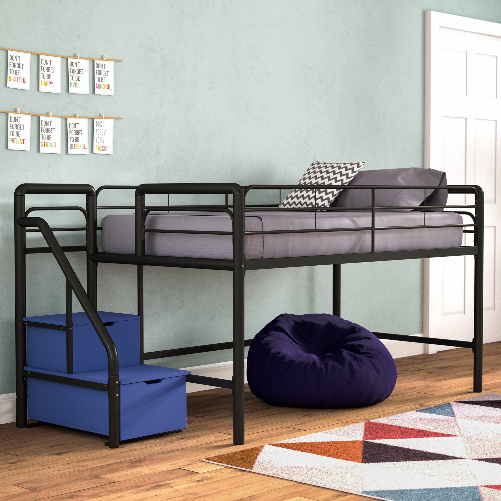 Twin Loft Bed.Zoomie Kids Bewley Junior Twin Loft Bed With Storage