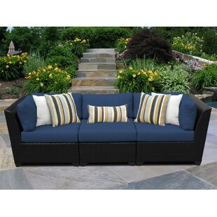 Price comparison Barbados Patio Sofa with Cushions By TK Classics