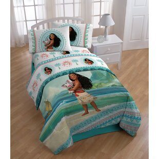 Disney Moana The Wave 4 Piece Twin Reversible Bed In A Bag Set