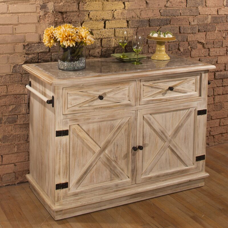 Glenwood Springs Kitchen Island With Marble Top