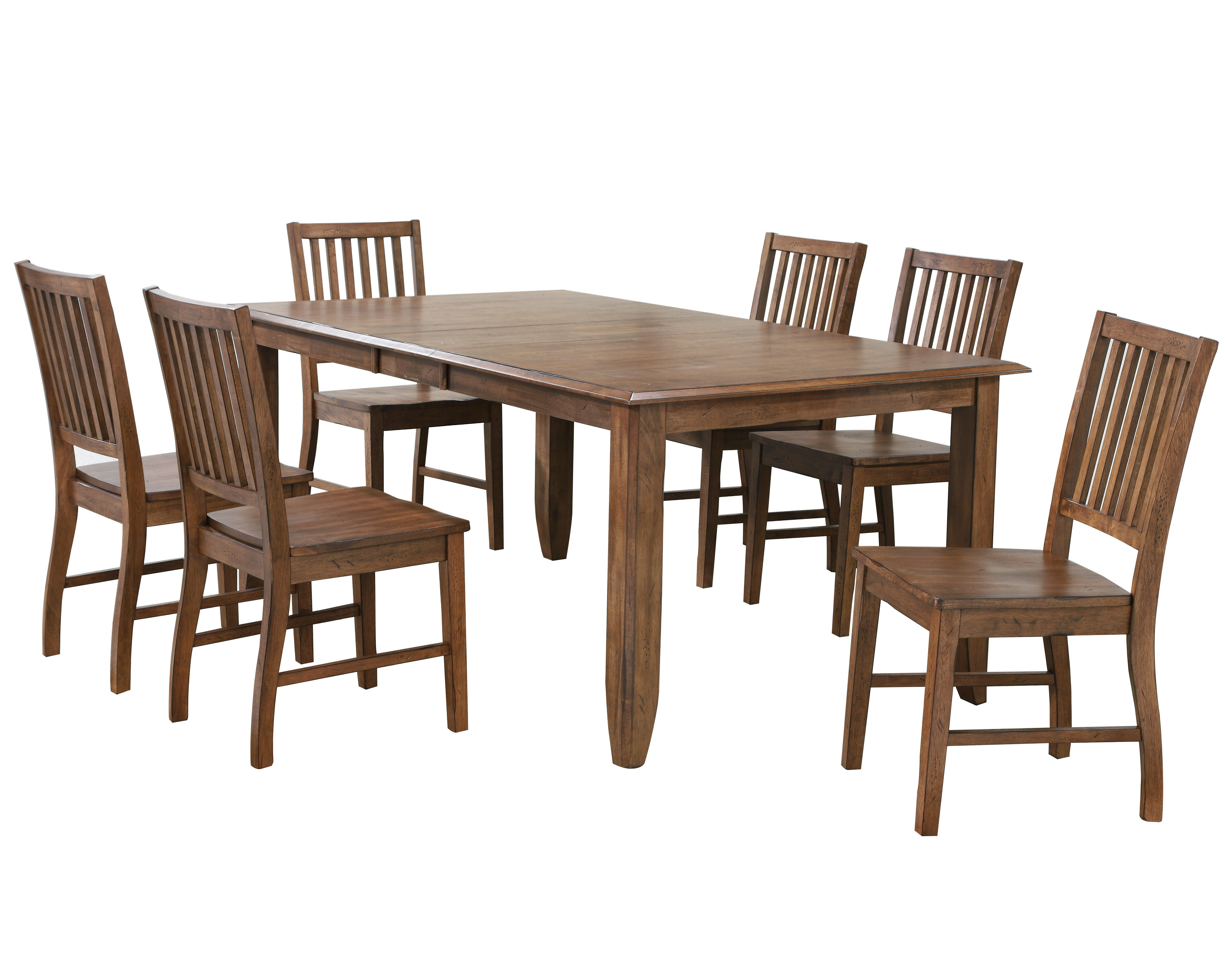 Loon Peak Huerfano Valley 7 Piece Extendable Solid Wood Dining Set Reviews Wayfair