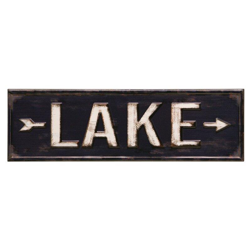 Lake Sign Wall Decor