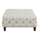 Mayzie 36.25 Tufted Square Cocktail Ottoman by Latitude Run