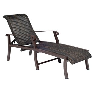 Woodard Cortland Woven Adjustable Chaise Lounge