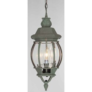 3-Light Outdoor Hanging Lantern by Volume Lighting