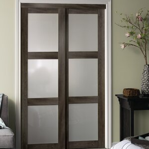 3 lite 2 panel mdf sliding interior door
