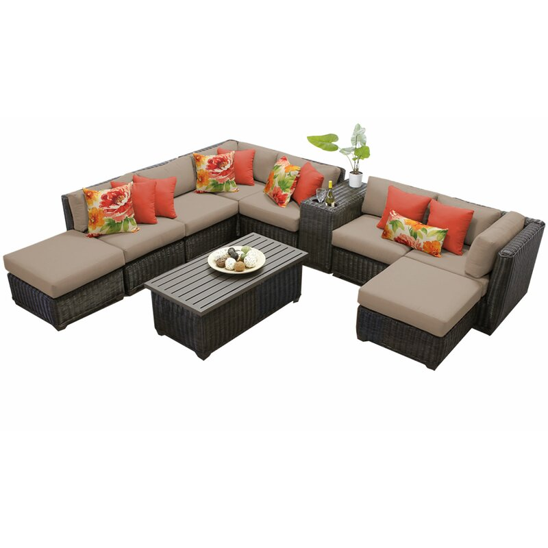 Sol 72 Outdoor Fairfield 10 Piece Rattan Sectional Seating Group With Cushions Reviews Wayfair