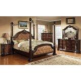 Wyatt Queen Upholstered Four Poster 5 Piece Bedroom Set by Astoria Grand