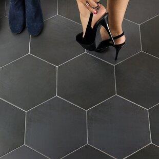 Gray Smooth Hexagonal Tile