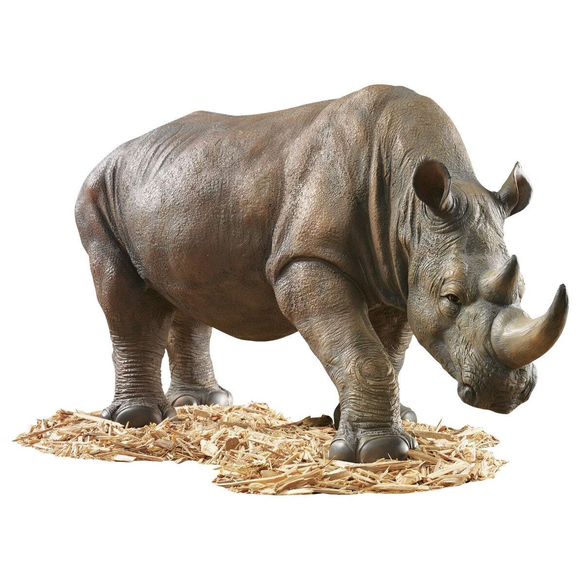 Design Toscano South African Rhino Garden Statue & Reviews | Wayfair