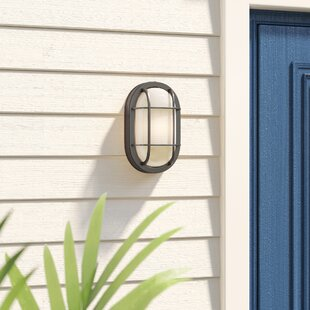 Top Lia 1-Light Outdoor Bulkhead Light By Beachcrest Home