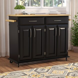 Hamilton Kitchen Island with Wood Top Charlton Home