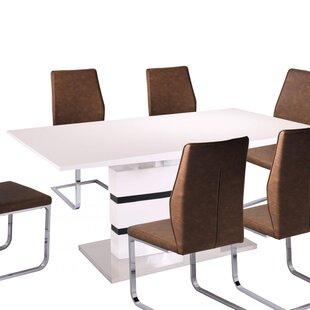 Alessia High Gloss Dining Table  sc 1 st  Wayfair & White High Gloss Dining Table | Wayfair.co.uk
