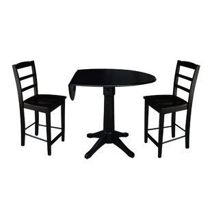 Bache 3 Piece Pub Table Set Alcott Hill