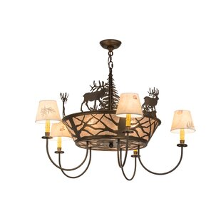 Meyda Tiffany Elk on The Loose 8-Light Shaded Chandelier