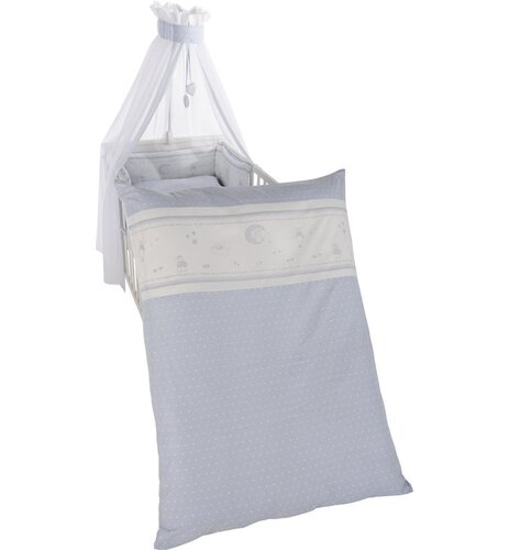 4-tlg. Babybettwäsche-Set Glücksengel roba Farbe: Blau | Kinderzimmer > Textilien für Kinder > Kinderbettwäsche | roba