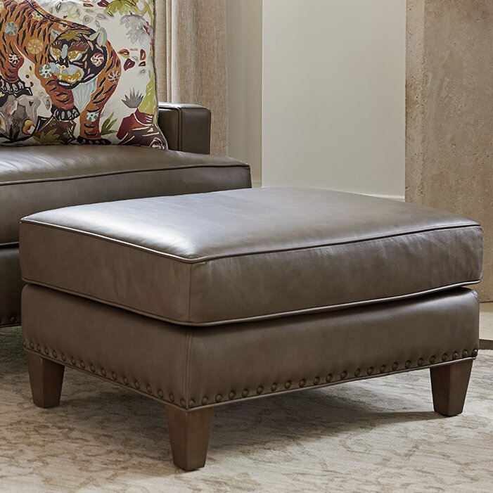 Phenomenal Cypress Point Leather Ottoman Gmtry Best Dining Table And Chair Ideas Images Gmtryco