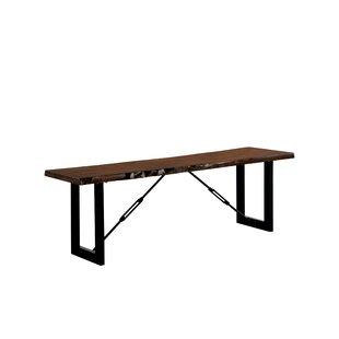 Nesbit Industrial Wood/Metal Bench by Loon Peak