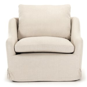 Rich Club Box Cushion Armchair Slipcover by Zentique Inc.