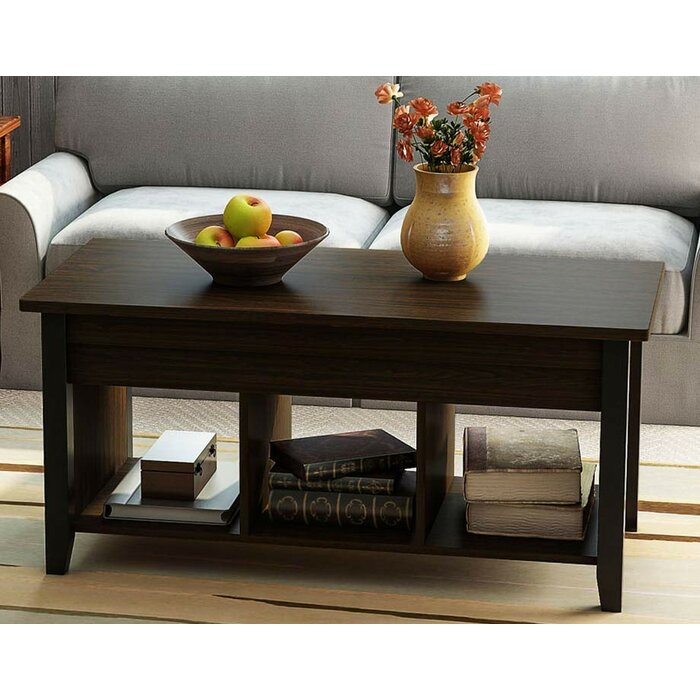 mosqueda lift top coffee table with storage