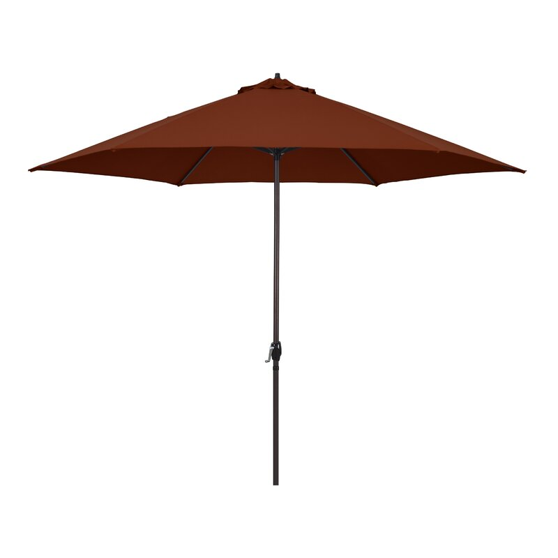 Zipcode Design McDougal 11 Market Umbrella  Fabric: Tuscan Brick