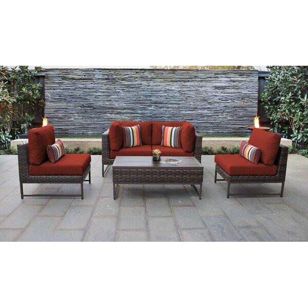 Nauvoo 5 Piece Rattan Sectional Seating Group With Cushions Joss Main