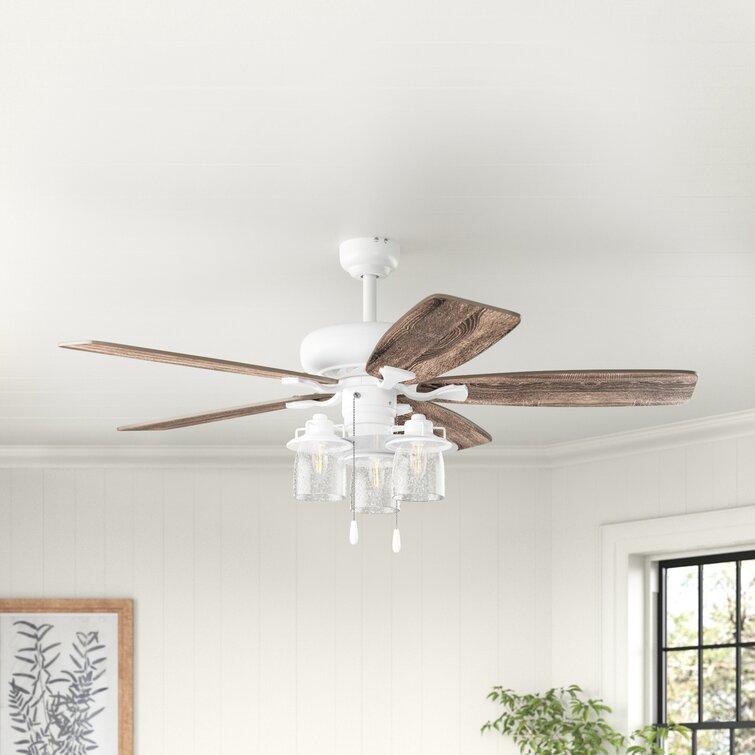 Laurel Foundry Modern Farmhouse 60 Crissay 5 Blade Standard Ceiling Fan With Light Kit Included Reviews Wayfair