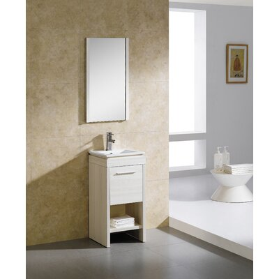 "16 Bathroom Vanity fresca allier 16"" single small modern bathroom vanity set with"