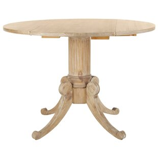 Albertine Drop Leaf Solid Wood Dining Table