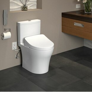 Toto Aquia IV Dual Flush Elongated Two-Piece Toilet with Ewater+